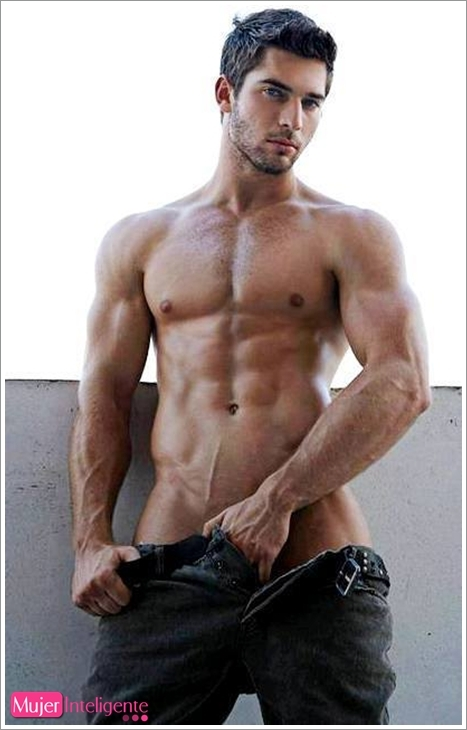 El moreno guapo cuerpo atlético dotado-1116